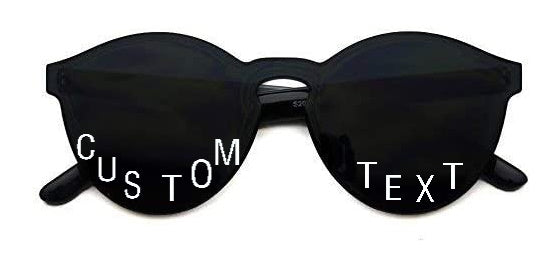 Custom Text Black Frameless Sunglasses
