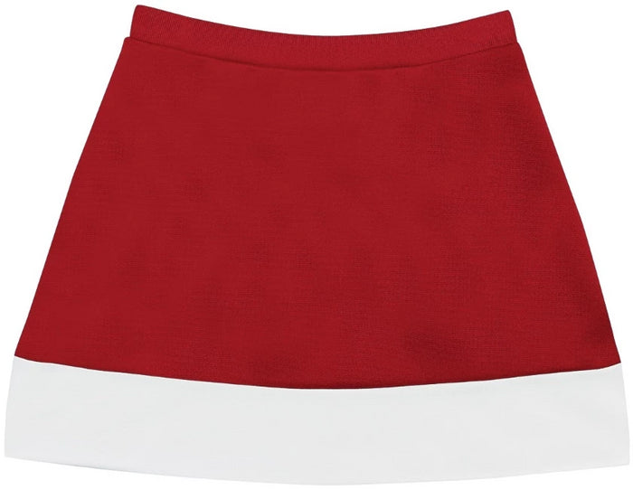 Collegiate Red & White A-Line Cheer Skirt
