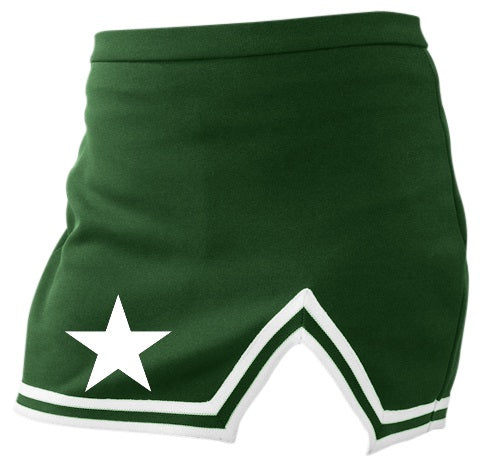 Big Star Classic Green A-Line Notched Cheer Skirt