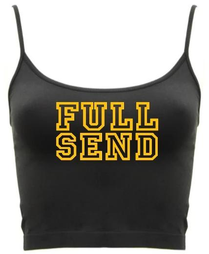 Full Send Seamless Spaghetti Strap Crop Top (Available in Two Colors)