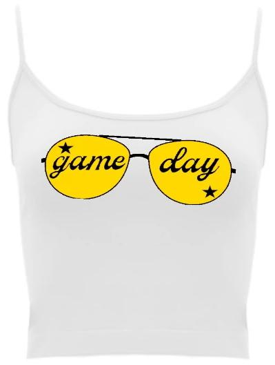 Game Day Shades Spaghetti Strap Crop Top