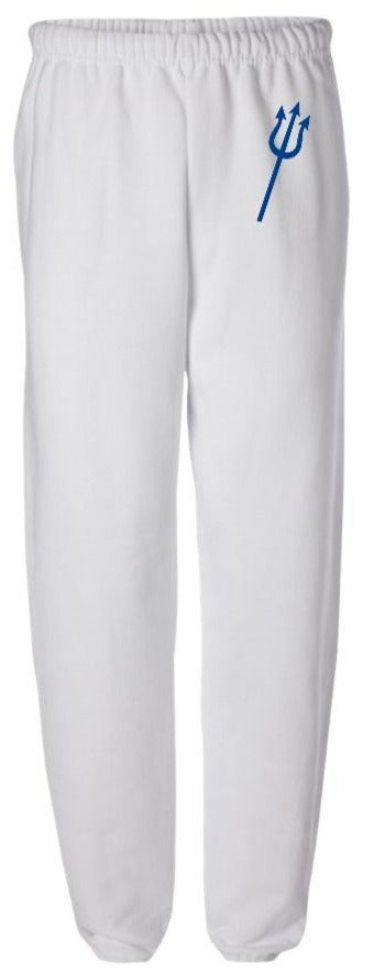 Pitchfork White Sweatpants