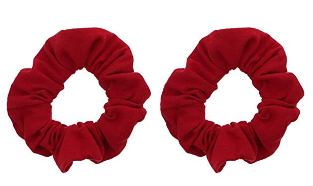 Wine Red Scrunchie Set