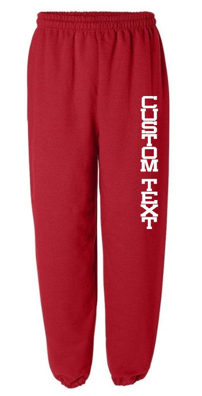 Custom Single Color Text Red Sweatpants