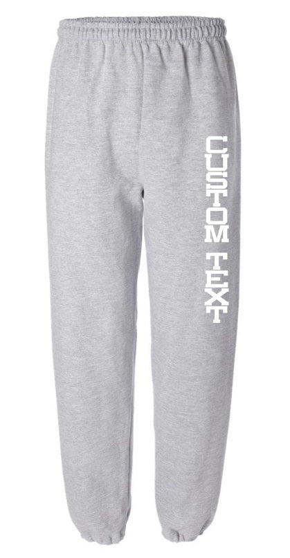 Custom Single Color Text Grey Sweatpants