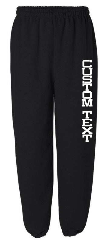Custom Single Color Text Black Sweatpants