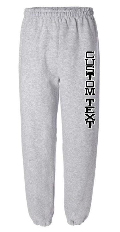 Custom Double Color Text Grey Sweatpants