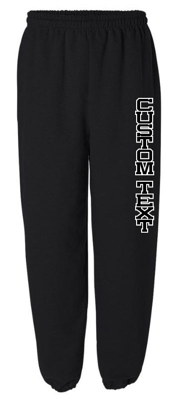 Custom Double Color Text Black Sweatpants