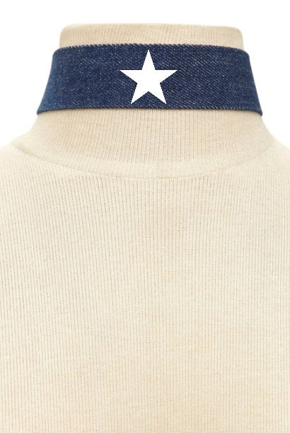 Star Power Denim Choker