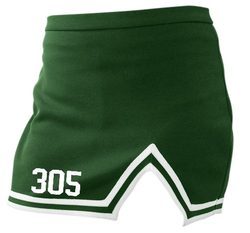 fa3373cc7a 305 Green A-Line Notched Cheer Skirt – Gameday Bae