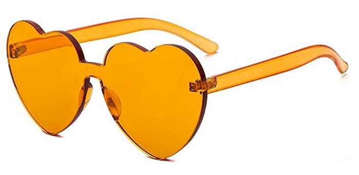 Orange Heart Candy Colored Sunglasses