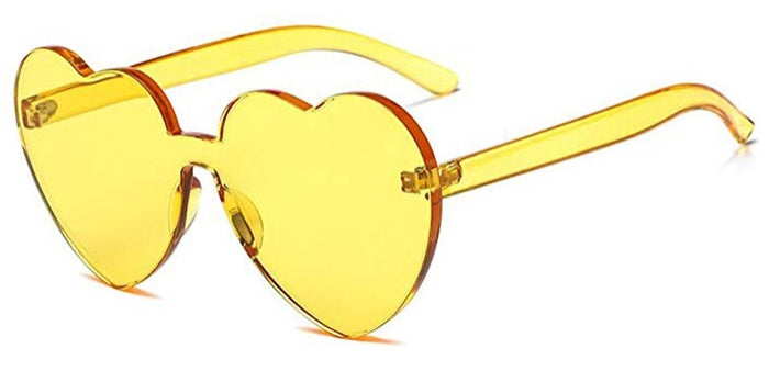 Yellow Heart Candy Colored Sunglasses