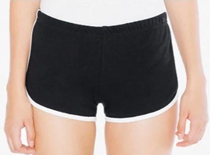 Black Ringer Shorts