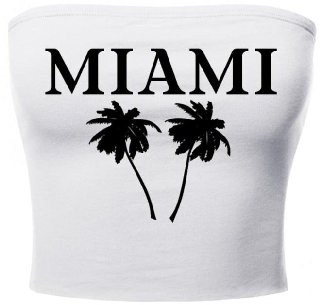 Miami Palm Trees Tube Top