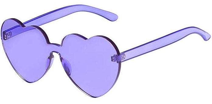 Purple Heart Candy Colored Sunglasses
