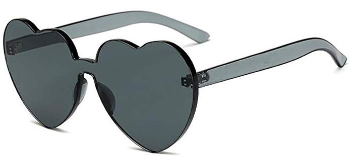 Black Heart Candy Colored Sunglasses