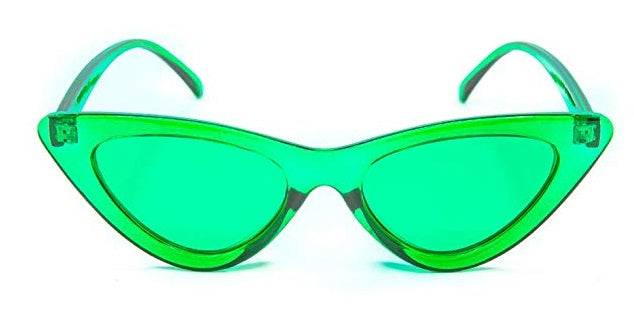 Green Cat Eye Candy Colored Glasses