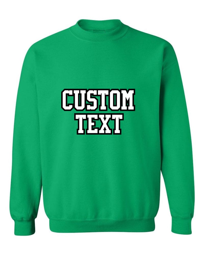 Custom Double Color Text Irish Green Crew Neck Sweatshirt