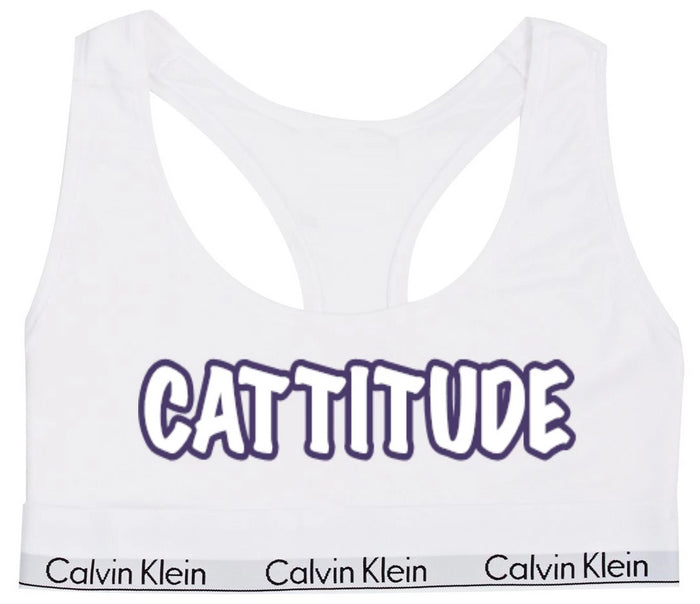 Cattitude Cotton Bralette