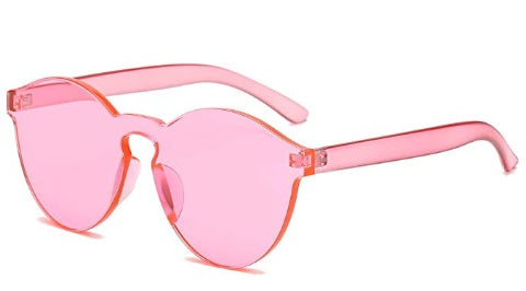 Pink Frameless Candy Colored Glasses