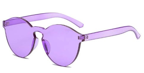 Purple Frameless Candy Colored Glasses