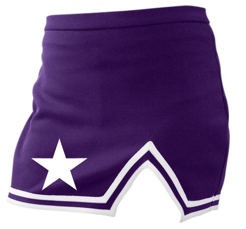 White Star Purple A-Line Notched Cheer Skirt