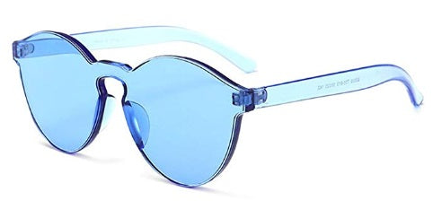 Blue Frameless Candy Colored Glasses
