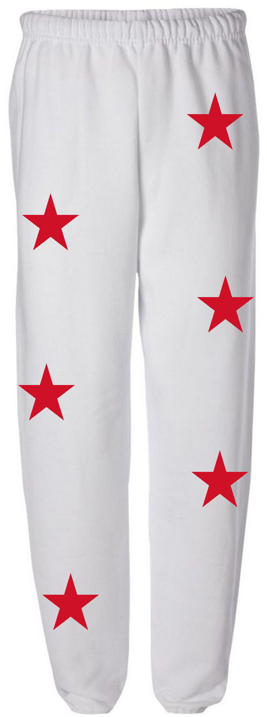 Star Power White Sweatpants