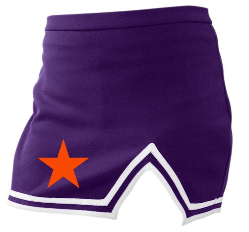 Orange Star Purple A-Line Notched Cheer Skirt