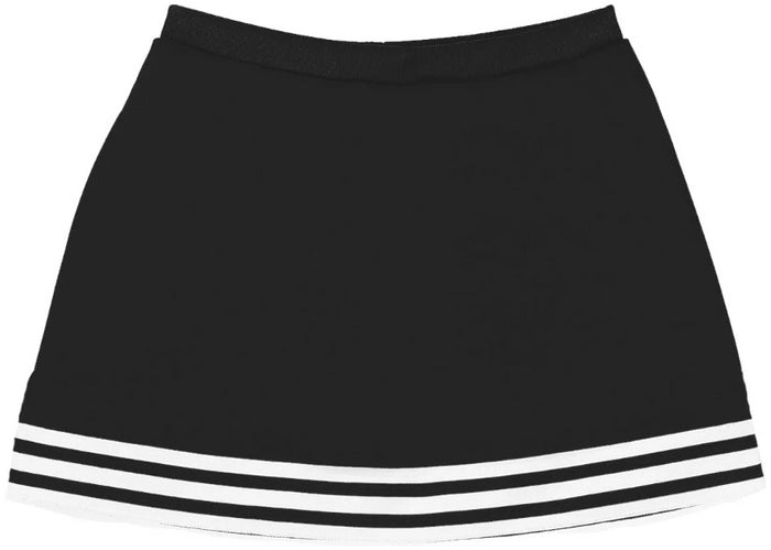Black & White Classic A-Line Cheer Skirt