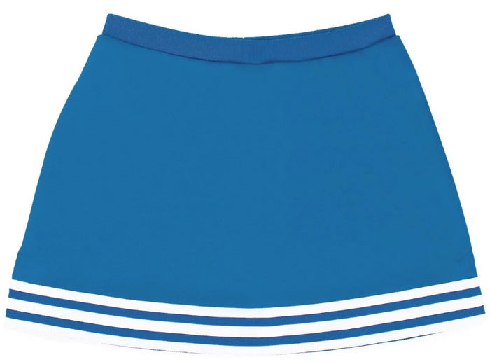 Blue & White Classic A-Line Cheer Skirt