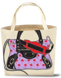 Paradised Hand Painted Canvas Tote