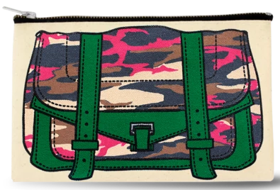 The Ultimate Hand Painted Canvas Camo Pouch