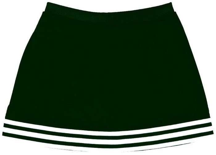 Forest Green & White Classic A-Line Cheer Skirt