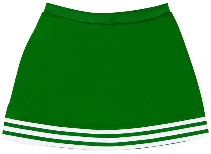 Kelly Green & White Classic A-Line Cheer Skirt