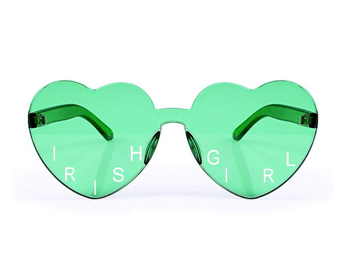 Irish Girl Candy Color Heart Sunglasses