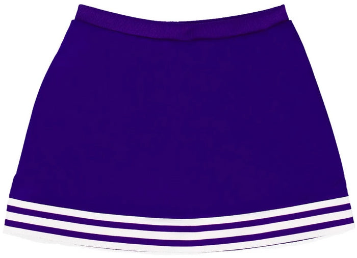 Purple & White Classic A-Line Cheer Skirt
