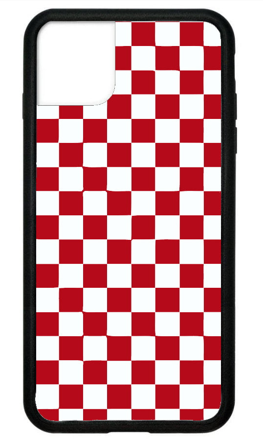 Red Checkerboard IPhone Case