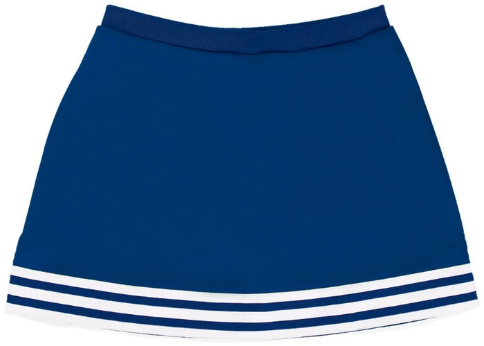 Royal Blue & White Classic A-Line Cheer Skirt