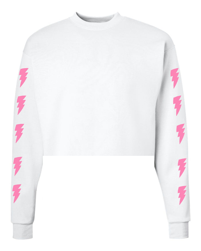 Custom White Lighting Crewneck Sweatshirt- Customize Your Lightning Color!