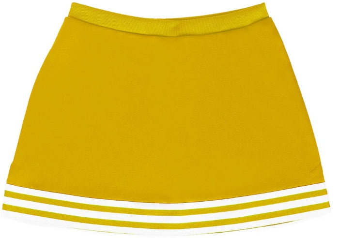 Yellow & White Classic A-Line Cheer Skirt