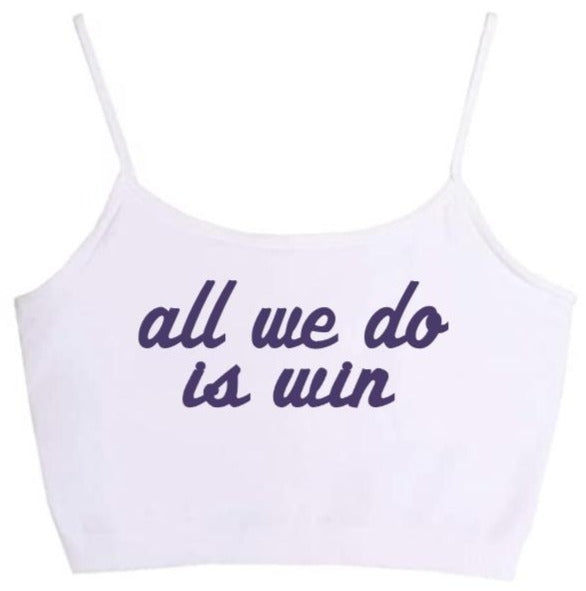 All We Do Is Win Seamless Crop Top