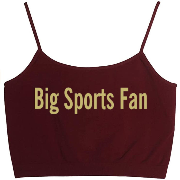 Big Sports Fan Seamless Crop Top
