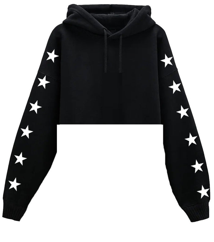 Custom Cropped Star Hoodie- Customize Your Star Color!
