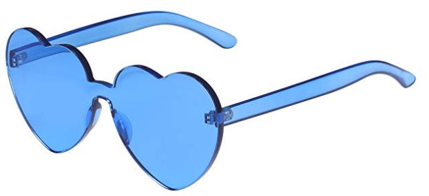 Blue Heart Candy Colored Sunglasses