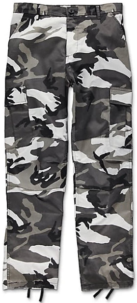 The Real Black Camo Pants