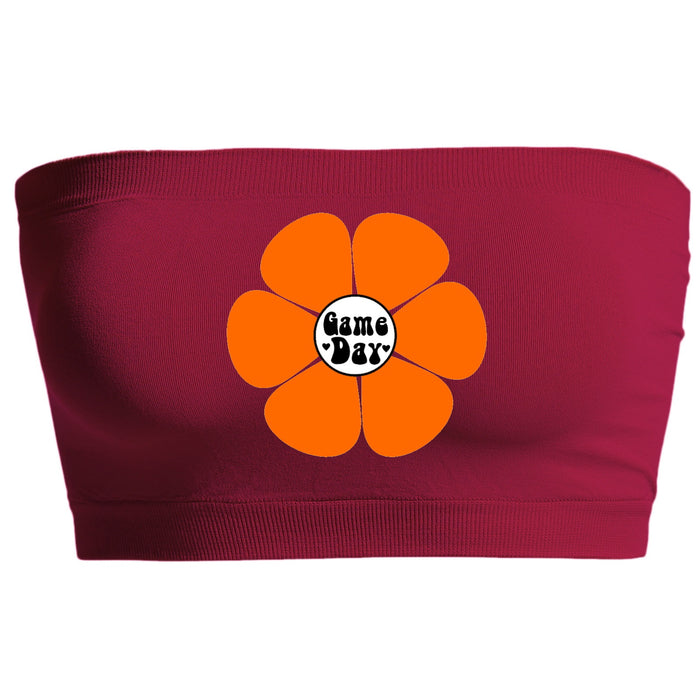 Flower Power Maroon Seamless Bandeau