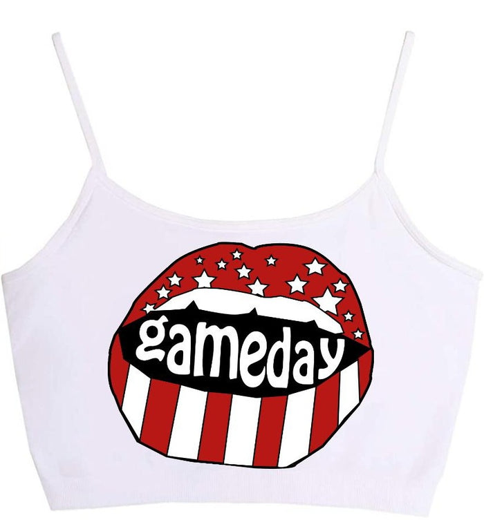Gameday Stars Seamless Crop Top (Available in 2 Colors)