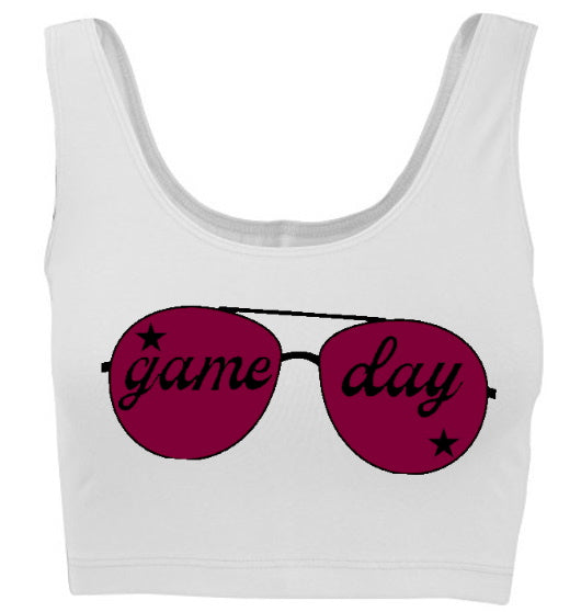Game Day Shades Tank Crop Top