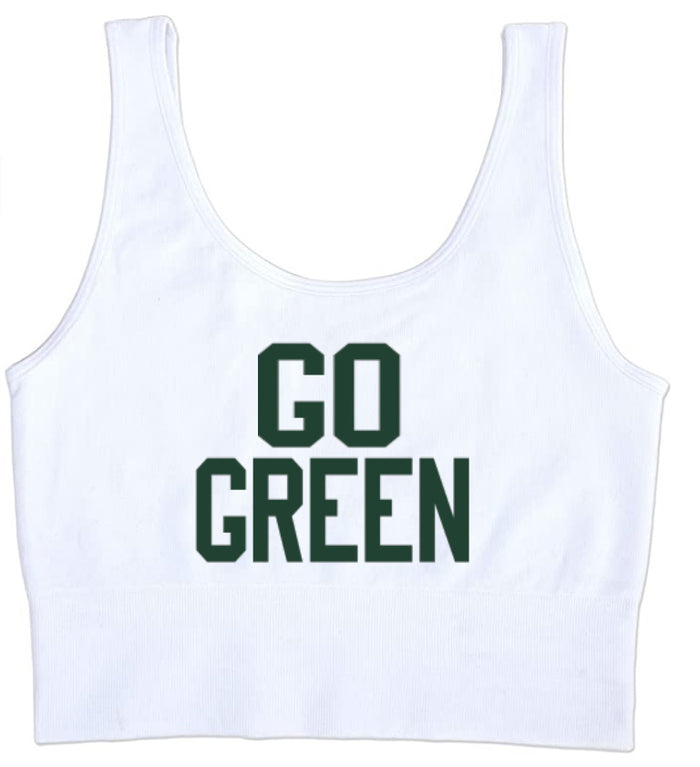 Go Green Seamless Tank Crop Top